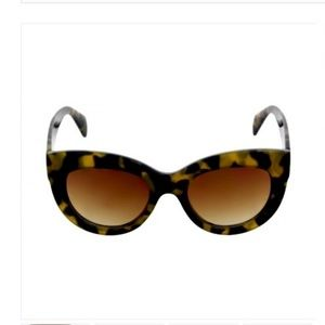 THICK CAT EYE BROWN TORTOISE SUNGLASSES NEW